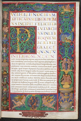 Decorated initial and full borders