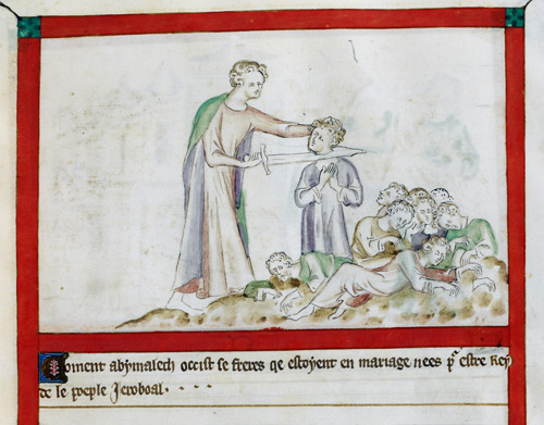 Abimelech slaying his brothers