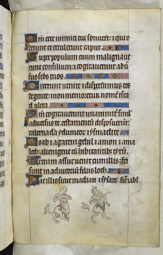 Grotesques playing instruments