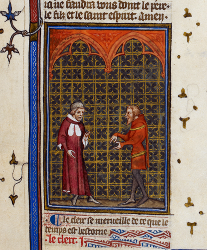 Debate between a clerk and a knight