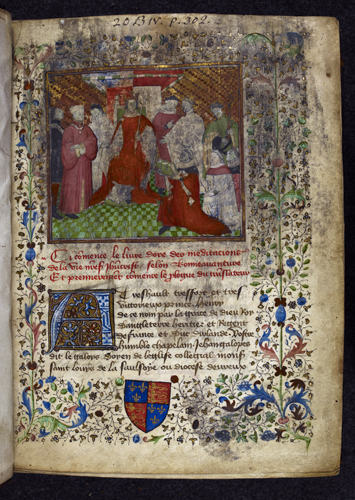 Henry V receiving the book