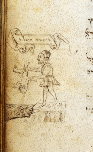 Man casting a baby into the Nile