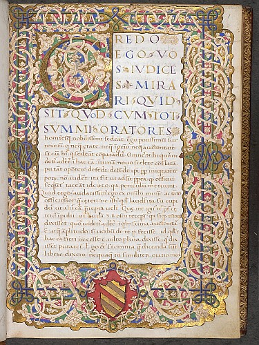 Illuminated initial and full border