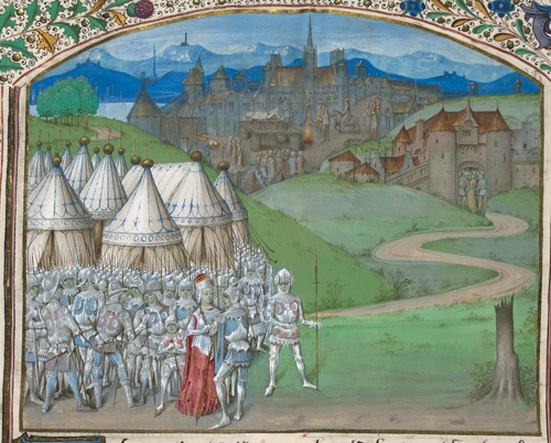 Queen Isabella and her army