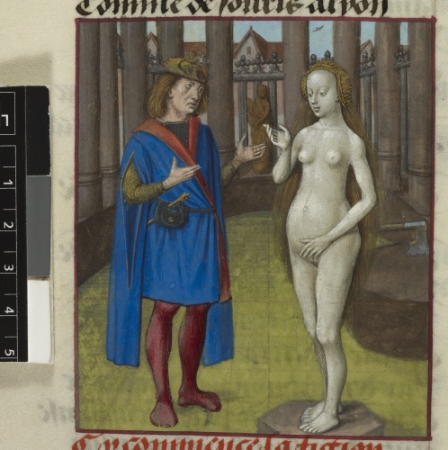 Pygmalion and the statue