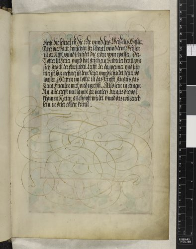 Text page with flourishes
