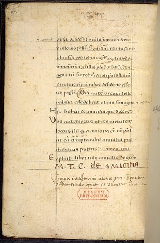 The last page of the text
