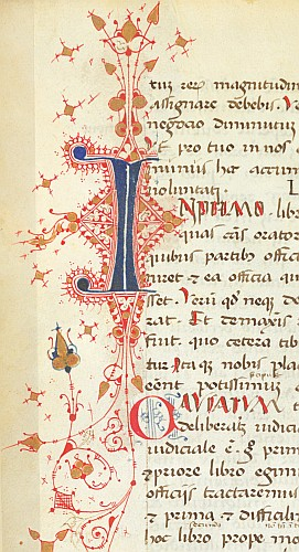 Detail: Flourished initial
