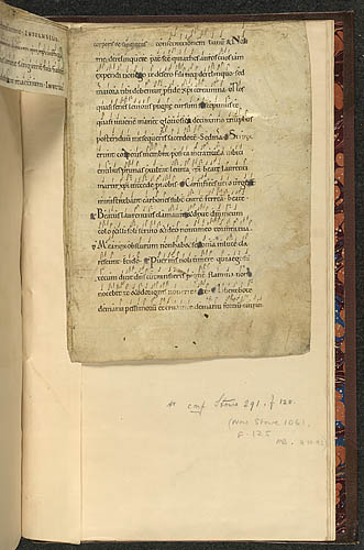 Antiphon with neumes