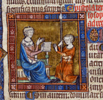 Aristotle receiving the letter