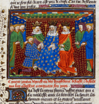 Kings of England, Scotland, and Ireland receiving Ponthus