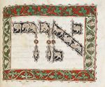 Inhabited initial-word panel