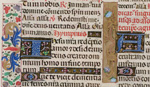 Two illuminated initials