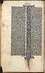 Historiated initial of the Creation and Crucifixion
