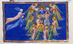Christ with saints and angels