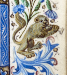Lion playing a trumpet