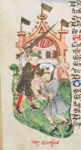 Croesus being seized by a knight