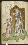 The Virgin and a kneeling woman