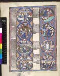 Bible scenes and moralisations in a series of eight ...