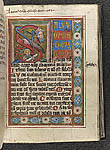 Historiated initial 'S'(alvum) with hybrid creature making ...