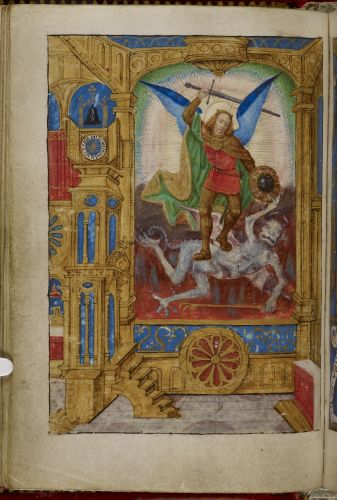 Archangel Michael trampling the Devil