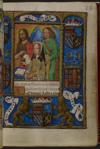 Joanna of Castile with John the Baptist and her guardian angel