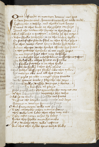 Middle English sermon