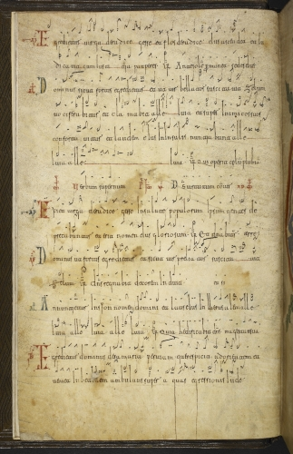 Initials and neumes