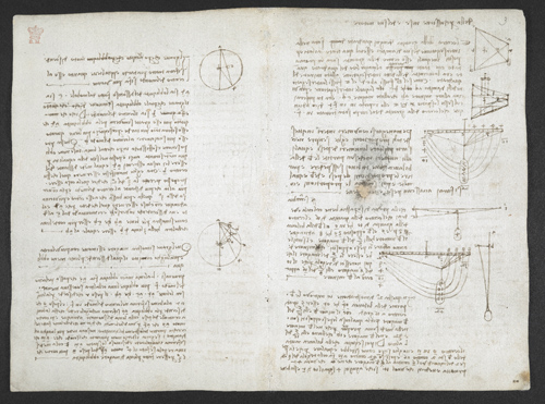 f. 3, displayed as an open bifolium with f. 12v: notes and diagrams