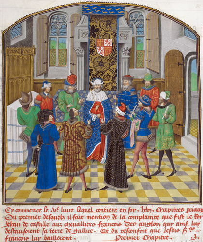 Court of the king of Castile