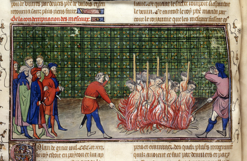 Burning of lepers