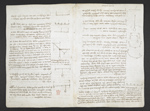 f. 7, displayed as an open bifolium with f. 8v: notes and diagrams