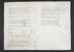 f. 13, displayed as an open bifolium with f. 2v: diagrams
