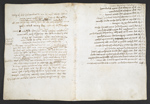 f. 45, displayed as an open bifolium with f. 58v: notes
