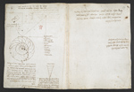 f. 59, displayed as an open bifolium with f. 44v: sketch and notes