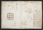 f. 70, displayed as an open bifolium with f. 71v: diagrams and sketches