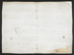 f. 76, displayed as an open bifolium with f. 75v: blank page.