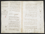 f. 80, displayed as an open bifolium with f. 92v: diagrams and notes