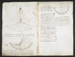 f. 87v, displayed as an open bifolium with f. 86: diagrams