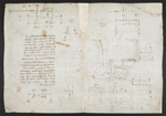 f. 105v, displayed as an open bifolium with f. 106: diagrams