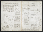 f. 120, displayed as an open bifolium with f. 121v: diagrams