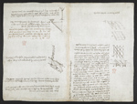 f. 121, displayed as an open bifolium with f. 120v: diagrams