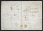 f. 125v, displayed as an open bifolium with f. 122: sketches and diagrams