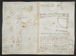 f. 150v, displayed as an open bifolium with f. 146: sketches and diagrams