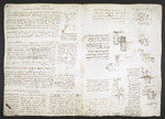 f. 165, displayed as an open bifolium with f. 164v: diagrams