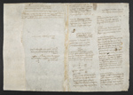 f. 184v, displayed as an open bifolium with f. 181: text page