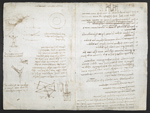 f. 192v, displayed as an open bifolium with f. 189: sketches and diagrams