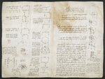 f. 195, displayed as an open bifolium with f. 194v: diagrams