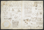 f. 198v, displayed as an open bifolium with f. 197: diagrams
