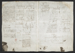 f. 203v, displayed as an open bifolium with f. 206: diagrams